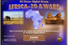 EA5WP-30MDG-Africa-20-Certificate