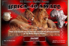 EA5WP-30MDG-Africa-40-Certificate