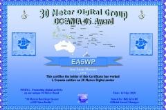 EA5WP - 30MDG Award Certificate: (30MDG OC-05)