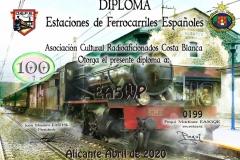 DIPLOMA-DEFE-100-FERROCARRILES