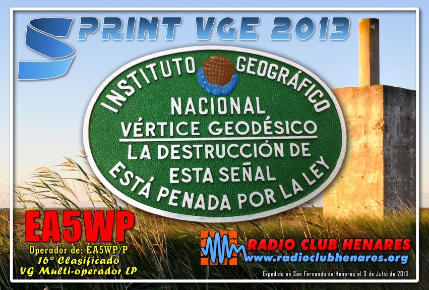 EA5WP sprint vge 2013