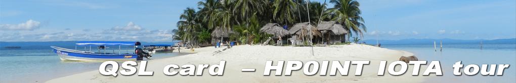 Actividad QSL card HP0INT IOTA